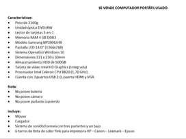 se vende computador portátil Samsung