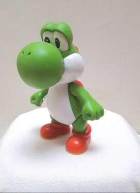 Figura Yoshi articulada de vinilo, Mario Bros