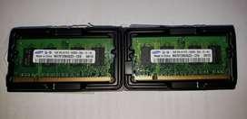 Modulos Memoria Para Notebook 1GB DDR2 667 Mhz c/u