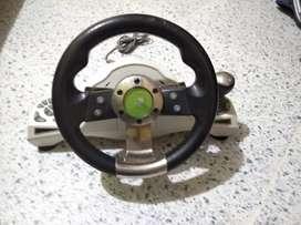Volante y pedales xbox360