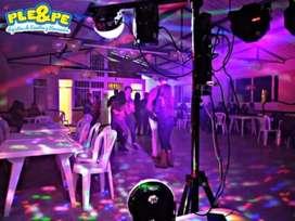 Chikitecas/minitecas/decoración neo/decoraciones/fiestas infantiles /mateimonios/bodas/bautizos/luces sonido