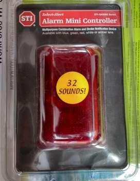 Nuevo Minialarma controlador STISA5000 Rojo 32 sonidos 100/85 DB. Ayuda a detener el uso no autorizado de dispositivos