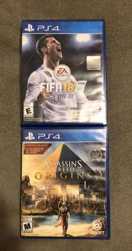 Assasin's Creed Origins Y Fifa 18