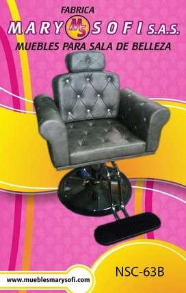 sillas de corte , lavacabezas etc