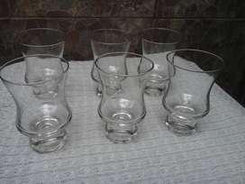 Doce Vaso Tipo Copa de Vidrio