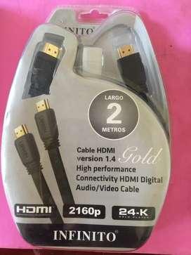 Cable Hdmi Chapado en Oro de 24 K