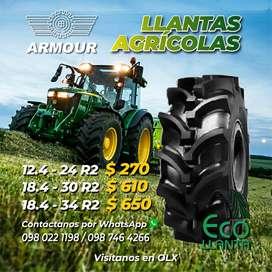 LLANTAS AGRÍCOLAS 12.4 - 24 R2 - 18.4 - 30 R2 - 18.4 - 34 R2