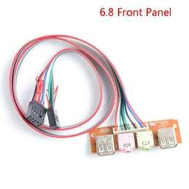 Panel Frontal USB SONIDO NUEVOS listo para conectar a Tarjeta Madre - 444444