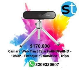 CAMARA WEB TRUST TYRO FULL HD 1080 P ENFOQUE AUTOMATICO TRIPO