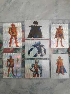 Figuritas Hologramas Caballeros Del Zodiaco 2 Lote!!!
