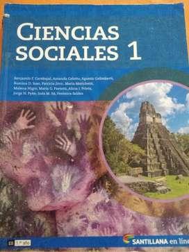 Manual de Ciencias Sociales 1 editorial Santillana.