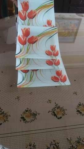 Platos en vidrio a colores