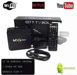 TV box 4k Android  tipo 9