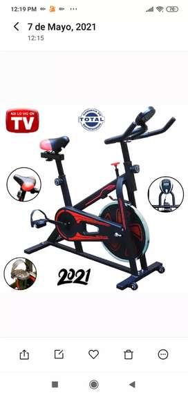 Bicicleta Estática TV Spinning Gimnasio