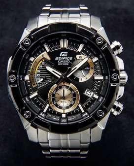 Reloj Casio Edifice Efr 559DB Acerado Bisel Negro Y Tablero Negro/dorado