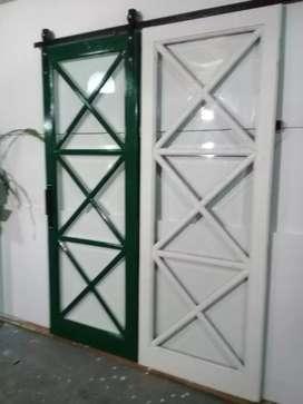 Puertas Granero,roble eslabonia.