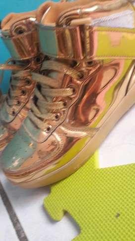 Zapatos de Niña Talla 35 Dorados