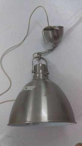 LAMPARA COLGANTE CAMPANA GRIS