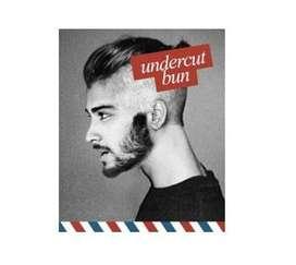 Corte de cabello masculino tipo UnderCut Bun
