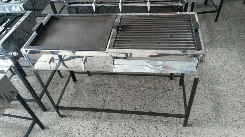 Set de Plancha a gas más asador a carbón NUEVO GRATIS Transporte