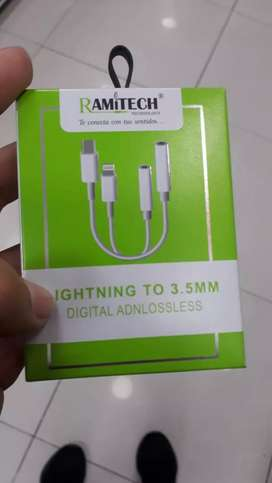 ADAPTADOR 3.5 A LIGHTNING IPHONE