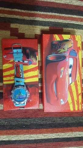 Reloj Pulcera Cars, Rayo Mc Queen de Disney con estuche.