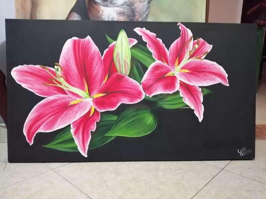 Lirio oriental, Pintura en óleo sobre lienzo 0