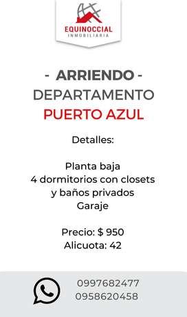 Alquiler de departamento 4 dorms en Puerto Azul - Via a la Costa