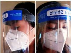 Protector Facial Transparente + Macarilla Re-utilizable