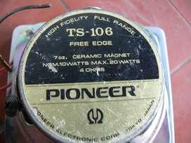 PARLANTES 4 PIONEER TS 106 20 WATS CERAMICAL FREE EDGE