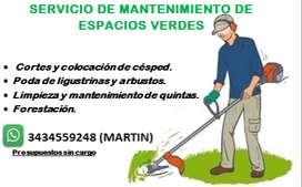 mantenimiento de espacios verdes
