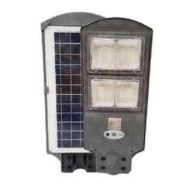 Lámpara Led Solar Alumbrado Público 80w Sensor De Movimiento