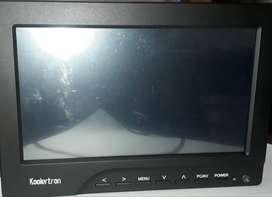 Pantalla Koolertron portátil HD 1280 x 800 7 inch monitor de campo HDMI, VGA w/F970 adaptador