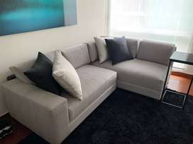 Mueble Sofa Lounge seccional - OFERTA con tela de Romantex- COMO NUEVO!!