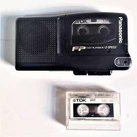 Grabador Periodista Panasonic Con 2 Casettes Funcionando