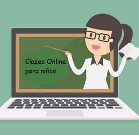 Clases Online de reforzamiento escolar para primaria
