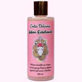 Jabón exfoliante para rostro, 250 ml