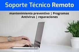 Mantenimiento y reparación de computadores, soporte Remoto