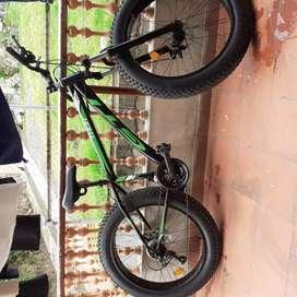 Bicicleta llantas anchas