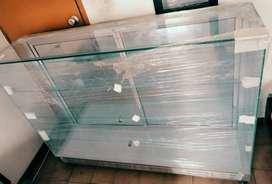 Vitrina mostrador de vidrio