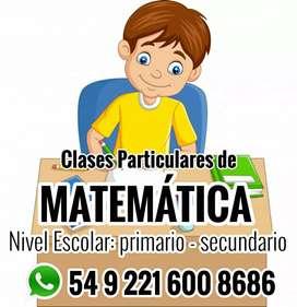 Matemática CLASES PARTICULARES primario y secundario