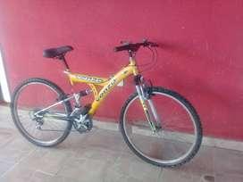 Bici venzo rorado 26 con doble suspensión impecable lista para andar