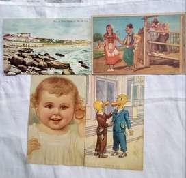 4 Tarjetas Postales de Argentina y Alemania década del 50