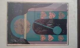 Serigrafia Reloj años 80 Espectacular clasico retro antiguo obra arte