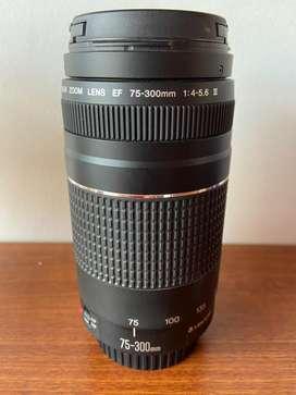 Lente Teleobjetivo Canon 75-300mm.