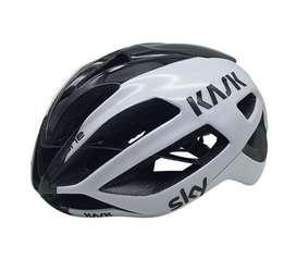 Casco ciclismo kask protone blanco negro
