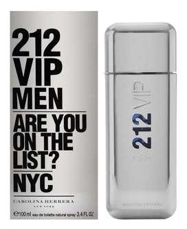Lociones, perfumes 100% originales 212 VIP MEN de carolina herrera