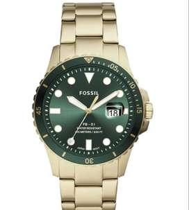 Fossil FB-01 - Reloj de cuarzo casual de acero inoxidable para hombre