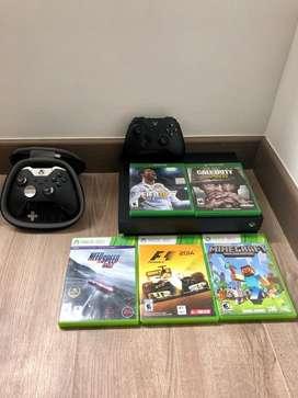 Xbox One X + Control Elite + 5 Juegos