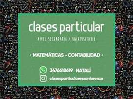 Clases particulares Secundario/ Universitario